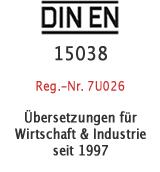 Dienstleistungen für Industrie und Handel seit 1997